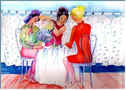 Afternoon Tea: Painting by Lily Azerad-Goldman