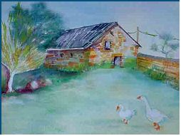 Barn -Painting by Lily Azerad-Goldman