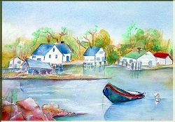 White Barn Inn- Painting by Lily Azerad-Goldman