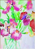 Orchids- Painting by Lily Azerad-Goldman